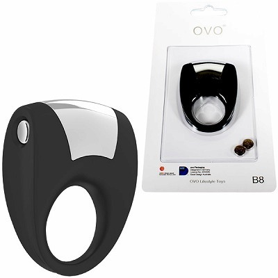 OVO B8 VIBRATING RING BLACK(男性補助グッズ)