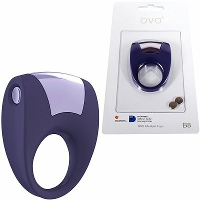 OVO B8 VIBRATING RING LILAC(男性補助グッズ)